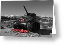 Tank Memorial Greeting Card