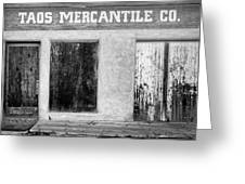 Taos Mercantile Greeting Card