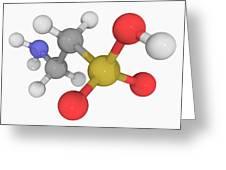 Taurine Molecule Greeting Card