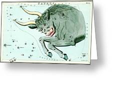 Taurus Constellation Greeting Card