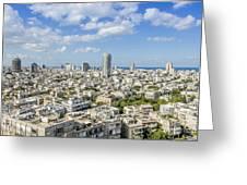 Tel Aviv Israel Elevated View Greeting Card