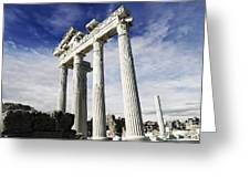 Temple Of Apollo In Side Greeting Card