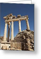 Temple Of Apollo Greeting Card