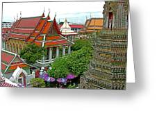 Temple Of The Dawn-wat Arun In Bangkok-thailand Greeting Card