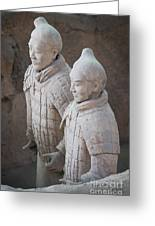 Terracotta Warriors, China Greeting Card