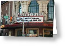 Terre Haute - Indiana Theater Greeting Card