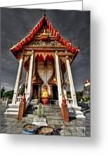 Thai Temple Greeting Card