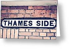 Thames Side Greeting Card