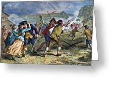 The Battle Of Concord, 1775 Greeting Card