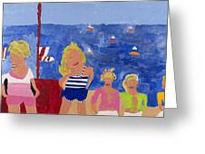 The Beach Girls Greeting Card by Don Larison