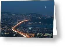 The Bosphorus Bridge  Greeting Card
