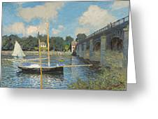 The Bridge At Argenteuil Greeting Card