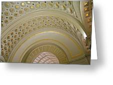 The Ceiling Of Union Station Greeting Card