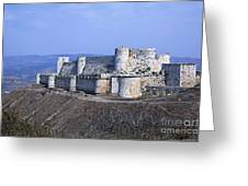The Crusader Castle Krak Des Chevaliers Syria Greeting Card