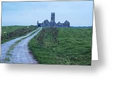 The Deserted Abbey Greeting Card