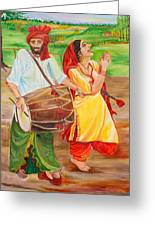 The Dhol Player Greeting Card