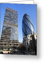 The Gherkin Building In London England Greeting Card