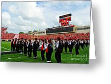 The Going Band From Raiderland Greeting Card by Mae Wertz