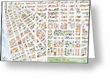 The Greenwich Village Map Greeting Card