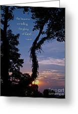 The Heavens Are Telling Greeting Card