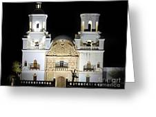The Mission At Night Greeting Card