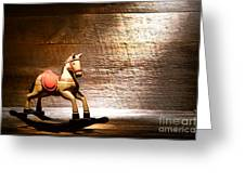 The Old Rocking Horse In The Attic Greeting Card
