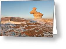 The Rabbit Stone Formation In White Desert Greeting Card