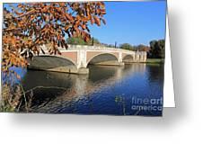 The River Thames At Hampton Court London Greeting Card