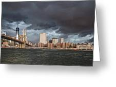 The Storm Over Manhattan Greeting Card
