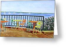 The Terrace View Greeting Card