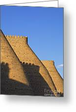 The Walls Of The Ark At Bukhara In Uzbekistan Greeting Card