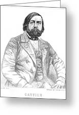 Theophile Gautier  French Writer Greeting Card
