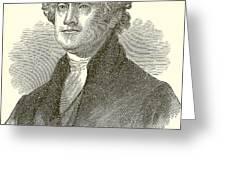 Thomas Jefferson Greeting Card by English School