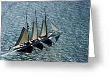 Three Masted Schooner Greeting Card