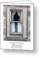 Through The Window Greeting Card