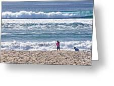 Thundering Waves Greeting Card