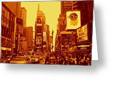 42nd Street And Times Square Manhattan Greeting Card