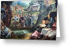 Tintoretto's The Worship Of The Golden Calf Greeting Card