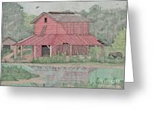 Tobacco Barn Greeting Card by Calvert Koerber