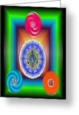 Divine Wealth Greeting Card
