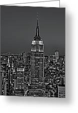 Top Of The Rock Bw Greeting Card