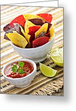 Tortilla Chips And Salsa Greeting Card