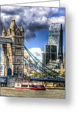 Tower Bridge And The City Greeting Card