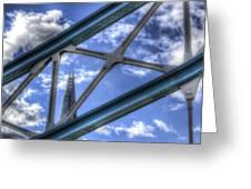 Tower Bridge And The Shard Greeting Card