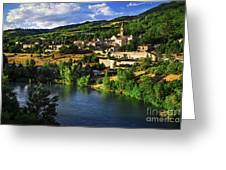 Town Of Sisteron In Provence Greeting Card by Elena Elisseeva