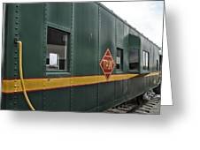 Tpw Rr Caboose Side View Greeting Card