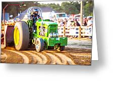 Tractor Pull Greeting Card