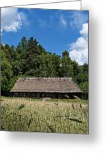 Traditional Polish Cottage House Greeting Card