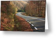 Transfagarasan Road Carpathian Mountains Romania  Greeting Card
