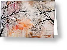 Tree Silhouette Painting Greeting Card
